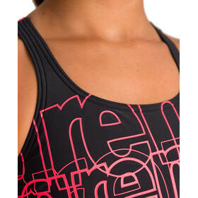 arena Spotlight Swim Pro Back One Piece Swimsuit Girls black/fluo red